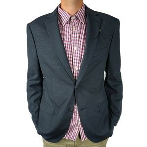 John Varvatos Mens Blazer Sz 44 R Navy Two Button